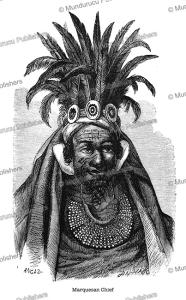 marquesan chief, george french angas, 1840