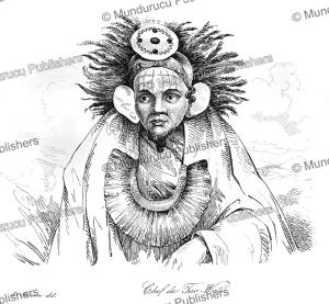 honu again, chief of vaitahu of the island tahu ata, marquesas islands, after william hodges, 1774