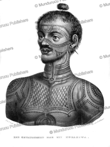 Tattooed man of Nuka Hiva, Marquesas, C.C.A. Last, 1836 | Photos and Images | Travel
