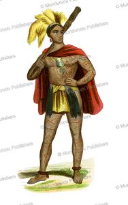tattooed warrior, marquesas islands,  le´opold massard, 1840