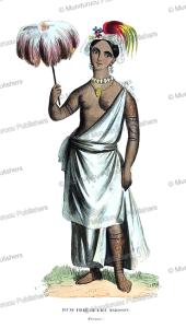 young girl of madison island now nuka hiva, marquesas islands, vangauberche, 1843