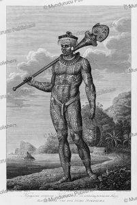Tattooed warrior of the Marquesas Islands, J. A. Atkinson, 1804 | Photos and Images | Travel