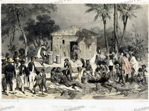 Funeral scene at Nuka Hiva, Jean Baptiste Bayot, 1846 | Photos and Images | Travel