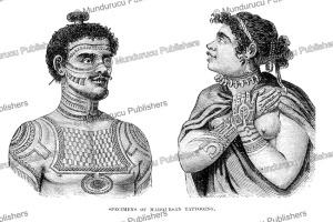 tattooed man and woman from nuka hiva, marquesas islands, after wilhelm gottlieb tilesius von tilenau, 1807
