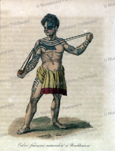 french deserter, jean baptiste cabri living and tattooed in the marquesas islands, e´douard verreaux, 1832
