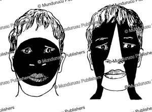 face patterns used on nuka hiva, marquesas islands, willowdean chatterson handy, 1922