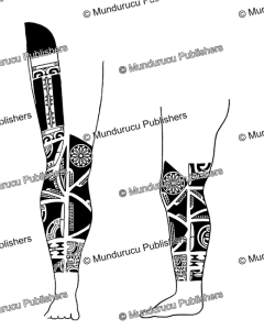 Male leg pattern, Marquesas Islands, Willowdean Chatterson Handy, 1922 | Photos and Images | Travel