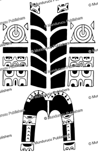 male back and side patterns from fatu hiva, marquesas islands, 1850