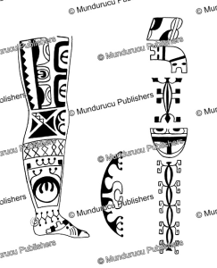 Female leg pattern from Fatu Hiva, Marquesas Islands, Willowdean Chatterson Handy, 1922 | Photos and Images | Travel