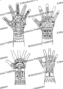 female hand patterns from nuka hiva, marquesas islands, willowdean chatterson handy, 1922
