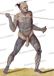 Warrior with the Mata Komoe design on his thigh, Wilhelm Gottlieb Tilesius von Tilenau, 1806 | Photos and Images | Travel
