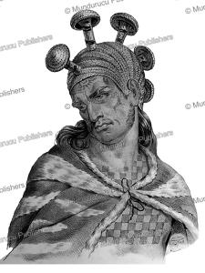 Warrior with pahupahu tattoo, Hawaii, Jacques Arago, 1819 | Photos and Images | Travel