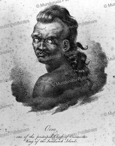 Chief Ooro of the Sandwich Islands, Hawaii, Jacques Arago, 1819 | Photos and Images | Travel