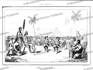 Children performing a dance, Hawaii, Victor Marie Felix Danvin, 1836 | Photos and Images | Travel