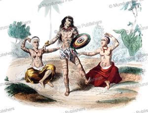 Hawaiian hula dancers, Devilliers, 1844 | Photos and Images | Travel