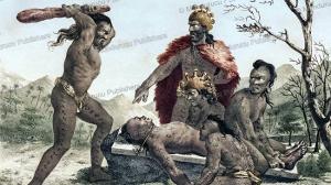 human sacrifice, jacques arago, 1820