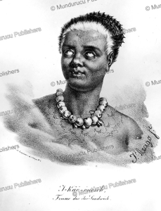 I Kao Onoroh, a woman from the Sandwich Islands, Hawaii, Jacques Arago, 1819 | Photos and Images | Travel