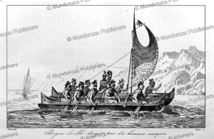 Warriors and a high chief crossing Kealakekua Bay, Hawaii, Victor Marie Felix Danvin, 1836 | Photos and Images | Travel