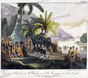 Meeting between Kotzebue and king Tammeamea of Oahu, Hawaii, Louis Choris, 1827 | Photos and Images | Travel