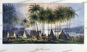 Port of Hanarourou (Honolulu), Hawaii, Ludwig Choris, 1822 | Photos and Images | Travel