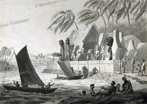 A morai (sacred place) near Karakakooa Bay, Sandwich Islands, Louis Choris, 1825 | Photos and Images | Travel