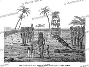 Morai (sacred place) of the King at Kayakakoua, Hawaii, Jacques Arago, 1820 | Photos and Images | Travel