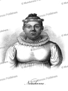 nomahanna, wife of kamehameha and queen of the sandwich islands, hawaii, ludwig choris, 1824
