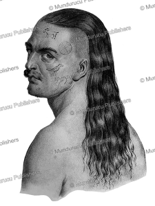tattooed chief, hawaii, jacques arago, 1819