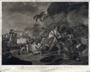 the death of captain james cook by the indians of owhyhee, hawaii, g. carter, 1784