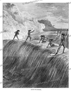 Surf-swimming, Hawaii, Johann Baptist Zwecker, 1870 | Photos and Images | Travel