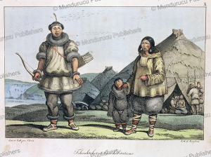 chukchi and their homes, louis choris, 1816