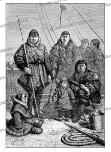 chukchi family fishing, e. ronjat, 1882