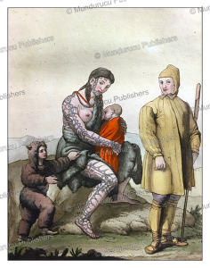 chukchi family with tattoos, gallo gallina, 1826