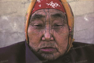 chukchi woman with chin tattoo, 1952