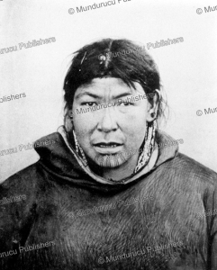 chukchi woman with chin tattoo, waldermar bogoras, 1904