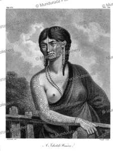chukchi woman with tattoos on her cheek, alexander, 1802