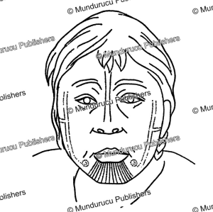 chukchi face tattoo pattern, waldermar bogoras, 1904