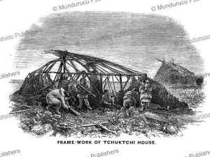 chuckchi frame-work for a house, frederick whymper, 1869