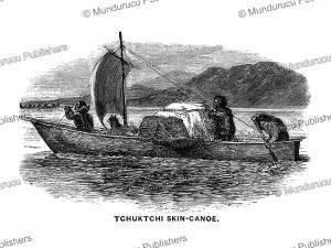 chuckchi skin-canoe, frederick whymper, 1869
