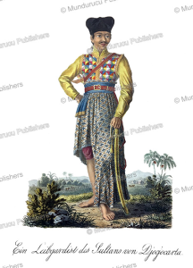 bodyguard of the sultan, java, j. schiess, 1829