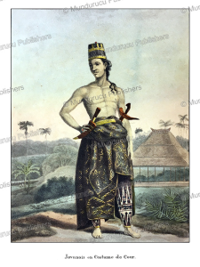javanese man in ceremonial dress, william daniell, 1824