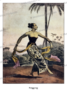 javanese dancing maiden, william daniell, 1824