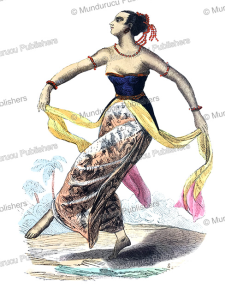 dancing woman of java, s, 1820