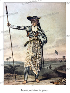 Javanese man in war dress, William Daniell, 1824 | Photos and Images | Travel