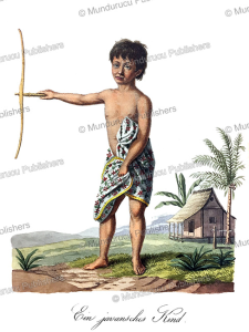 javanese child, j. schiess, 1829