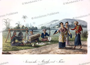 javanese music and dance, j. schiess, 1829