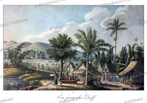 Javanese village (kampong), J. Schiess, 1829 | Photos and Images | Travel