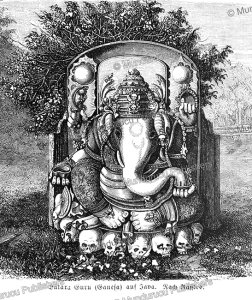 the hindu god ganesh, java, s. friedmann, 1868