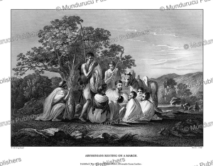 abyssinians resting on a march, h. salt, 1809