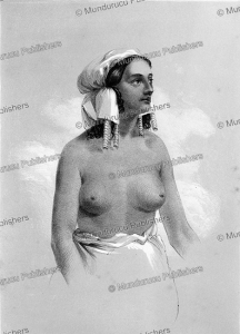 danakil woman, major w. cornwallis harris, 1845f